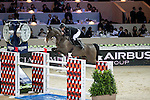 Roger Yves Bost on Record d'Oreal competes during the Airbus Trophy at the Longines Masters of Hong Kong on 20 February 2016 at the Asia World Expo in Hong Kong, China. Photo by Victor Fraile / Power Sport Images