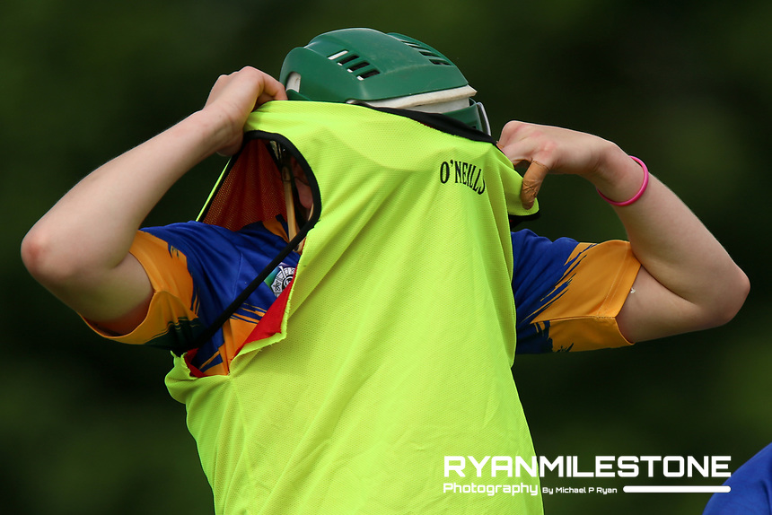 Tipperary's Cait Devane during the warm up ahead of the Liberty Insurance All Ireland Senior Camogie Championship Round 1 between Tipperary and Meath at the Ragg, Co Tipperary. Photo By Michael P Ryan.