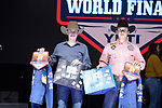 Logan Darst, Clayton Moore, during the Team Roping Back Number Presentation at the Junior World Finals. Photo by Andy Watson. Written permission must be obtained to use this photo in any manner.