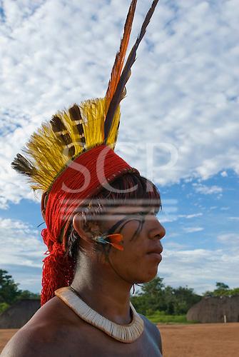 Xingu Indigenous Park, Mato Grosso State, Brazil. Aldeia Matipu (Matipu). Festival of Beja Flor (Phinya).