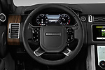 Car pictures of steering wheel view of a 2019 Land Rover Range-Rover HSE 5 Door SUV