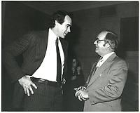 Peter Blaikie et Roch LaSalle<br /> , 4 dec 1978<br /> <br /> PHOTO : Agence Quebec Presse