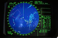 Europe/France/Bretagne/29/Finistère/Ile d'Ouessant/Le Cross Corsen(Centre Opérationnel de Surveillance et de Sauvetage) /Phare du Stiff - Détail écran radar