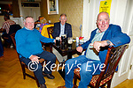 Enjoying the evening in the Horseshoe Bar in Listowel on Thursday, l to r: PJ Veale, Tommy Conaire and Jack Hennessy from Glin.