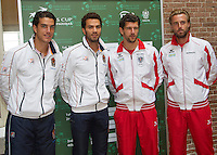 11-sept.-2013,Netherlands, Groningen,  Martini Plaza, Tennis, DavisCup Netherlands-Austria, Draw,  Dutch doubles Jesse Huta Galung and Jean-Julien Rojer vs the Austrian doubles Jurgen Melzer andOliver Marach <br /> Photo: Henk Koster