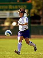 2 September 2007: University of Central Arkansas Sugar Bears' Brittany Mason, a Sophomore from Colorado Springs, CO, in action against the University of New Hampshire Wildcats at Historic Centennial Field in Burlington, Vermont. The Wilcats shut out the Sugar Bears 3-0 during the TD Banknorth Soccer Classic...Mandatory Photo Credit: Ed Wolfstein Photo