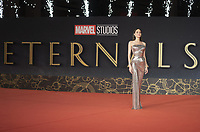 """US actress Angelina Jolie poses  on the red carpet for the screening of the film """"Eternals at the 16th edition of the Rome Film Fest in Rome, on October 24, 2021.<br /> UPDATE IMAGES PRESS"""