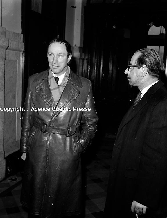 ARCHIVE - <br /> Le chef du PLC Pierre Trudeau en visite a Quebec, mars 1968, avant l'election du 25 juin<br /> <br /> PHOTO :  AQP -  Photo Moderne
