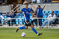 SAN JOSE, CA - MAY 12: Cade Cowell #44 of the San Jose Earthquakes controls the ball during a game between San Jose Earthquakes and Seattle Sounders FC at PayPal Park on May 12, 2021 in San Jose, California.