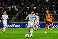 Leeds United's midfielder Jack Harrison (22) during the Sky Bet Championship match between Hull City and Leeds United at the KC Stadium, Kingston upon Hull, England on 2 October 2018. Photo by Stephen Buckley/PRiME Media Images.