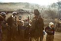 Iran 1982.In Engawe, peshmergas of KDPI discussing with a villager