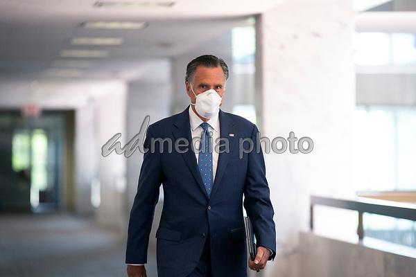 United States Senator Mitt Romney (Republican of Utah) arrives to GOP policy luncheons on Capitol Hill in Washington D.C., U.S., on Tuesday, June 2, 2020.  Credit: Stefani Reynolds / CNP/AdMedia