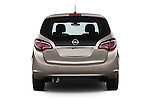 Straight rear view of2014 Opel MERIVA Cosmo 5 Door Mini MPV 2WD Rear View  stock images