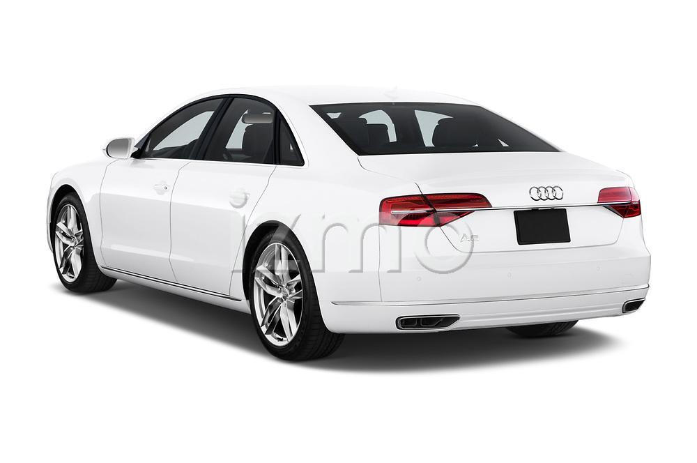Car pictures of rear three quarter view of 2015 Audi A8 4.0T NWB quattro Tiptronic 5 Door Sedan angular rear