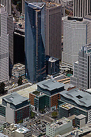 aerial photograph Millenium tower, Foundry Square, Transbay skyscrapers San Francisco