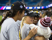 Stanford, CA - December 8, 2019: Civana Kuhlmann, Sam Hiatt, Naomi Girma at Avaya Stadium. The Stanford Cardinal won their 3rd National Championship, defeating the UNC Tar Heels 5-4 in PKs after the teams drew at 0-0.