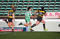 Manawatu's Janna Michal Vaughan heads for the tryline during the Farah Palmer Cup women's rugby match between Manawatu Cyclones and Taranaki Whio at CET Stadium in Palmerston North, New Zealand on Saturday, 24 July 2021 Photo: Dave Lintott / lintottphoto.co.nz