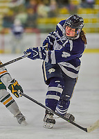 14 February 2015: University of New Hampshire Wildcat Forward Heather Kashman, a Junior from Edmonton, Alberta, in second period action against the University of Vermont Catamounts at Gutterson Fieldhouse in Burlington, Vermont. The Ladies played to a 3-3 tie in their final meeting of the NCAA Hockey East season. Mandatory Credit: Ed Wolfstein Photo *** RAW (NEF) Image File Available ***