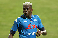 Victor Osimhen of SSC Napoli looks on<br /> during the friendly football match between SSC Napoli and L Aquila 1927 at stadio Patini in Castel di Sangro, Italy, August 28, 2020. <br /> Photo Cesare Purini / Insidefoto
