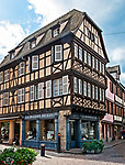 La Maison du Lin, half-timbered center for linen and fabrics, in Obernai