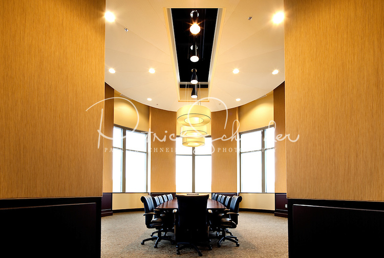 Architectural photography (without people) of a conference room / board room in the Huntersville Town Center Project, a public-private venture in downtown Huntersville, North Carolina.