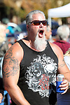 Scott Rains cheers on competitors in the 42nd Annual Nevada Day World Championship Single Jack Drilling Contest in the Max Casino parking lot in Carson City, Nev., on Saturday, October 28, 2017. <br /> Photo by Lance Iversen/Nevada Momentum