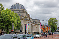 Pictured: The National Museum in Cardiff, Wales, UK. Wednesday 12 June 2019<br /> Re: Homeless people living in tents in Cardiff, Wales, UK.