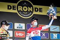 Mathieu Van der Poel (NED/Alpecin-Fenix) wins the 104th Ronde van Vlaanderen 2020 (1.UWT)<br /> <br /> 1 day race from Antwerpen to Oudenaarde (BEL/243km) <br /> <br /> ©kramon