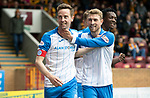 Motherwell v St Johnstone…05.05.18…  Fir Park    SPFL<br />Steven MacLean celebrates his first goal<br />Picture by Graeme Hart. <br />Copyright Perthshire Picture Agency<br />Tel: 01738 623350  Mobile: 07990 594431