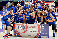 210705 -- BELGRADE, July 5, 2021 -- Italy s players pose for photos after their victory in the FIBA Men s Olympic Qualifying Tournament final match between Serbia and Italy in Belgrade, Serbia on July 4, 2021. Photo by /Xinhua SPSERBIA-BELGRADE-BASKETBALL-FIBA OQT-SERBIA VS ITALY PredragxMilosavljevic PUBLICATIONxNOTxINxCHN <br /> Photo Imago/Insidefoto ITA ONLY