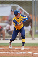 Brett Kelly (20) during the WWBA World Championship at the Roger Dean Complex on October 12, 2019 in Jupiter, Florida.  Brett Kelly attends The First Academy in Clermont, FL and is committed to UNC-Greensboro.  (Mike Janes/Four Seam Images)