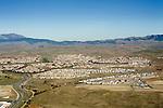 Urban sprawl in grassland, Livermore, California