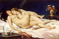 Le Sommeil par Gustave Courbet