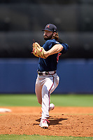 Atlanta Braves pitcher Jared Johnson (45) during a Minor League Spring Training game against the Tampa Bay Rays on June 1, 2021 at Charlotte Sports Park in Port Charlotte, Florida.  (Mike Janes/Four Seam Images)