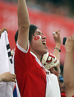 Korea Republic fan. Korea Republic defeated Togo 2-1 in their FIFA World Cup Group G match at the FIFA World Cup Stadium, Frankfurt, Germany, June 13, 2006.
