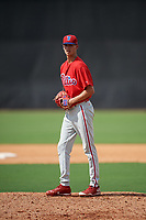Philadelphia Phillies pitcher Tyler McKay (16) gets ready to deliver a pitch during a Florida Instructional League game against the New York Yankees on October 11, 2018 at Yankee Complex in Tampa, Florida.  (Mike Janes/Four Seam Images)