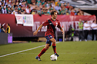 Steve Cherundolo (6) of the United States. The men's national teams of the United States (USA) and Mexico (MEX) played to a 1-1 tie during an international friendly at Lincoln Financial Field in Philadelphia, PA, on August 10, 2011.
