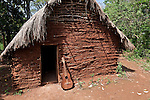 Ceremonial hut in the Guarani village of Andresito near San Ignacio, Misiones, Argentina.