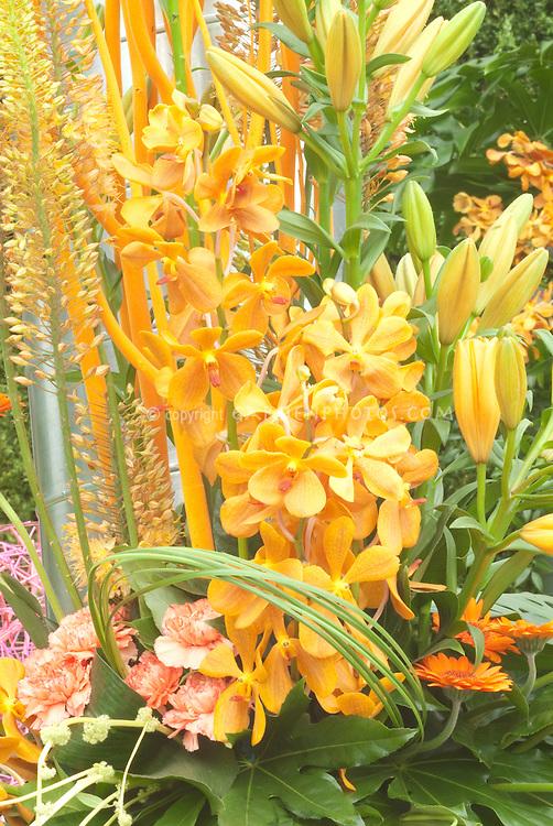 Orange Orchid Flower Arrangement