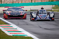 8th July 2021, Monza, Italy;   32 Van Uitert Job nld, Jamin Nicolas fra, Maldonado Manuel ven, United Autosports, Oreca 07 - Gibson during the 2021 4 Hours of Monza practise before the  4th round of the 2021 European Le Mans Series