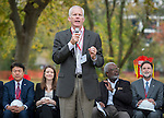 Houston ISD trustee Michael Lunceford comments during a groundbreaking ceremony for the new Mandarin Chinese Language Immersion Magnet School, December 6, 2014.