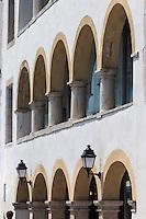 France, Aquitaine, Pyrénées-Atlantiques, Pays Basque,   Saint-Jean-de-Luz : Maison Lohobiaguenea ou Maison Louis XIV , place Louis XIV  //  France, Pyrenees Atlantiques, Basque Country, Saint Jean de Luz: The Maison Lohobiague, House of Louis XIV