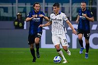 Milan, Italy - september 25 2021 - Serie A match F.C. Internazionale - Atalanta BC San Siro stadium - malinovskyi ruslan atalanta bc and darmian matteo f.c. internazionale