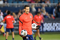 KANSAS CITY, KS - JULY 15: Aron Hyde United States goalkeeper coach during a game between Martinique and USMNT at Children's Mercy Park on July 15, 2021 in Kansas City, Kansas.