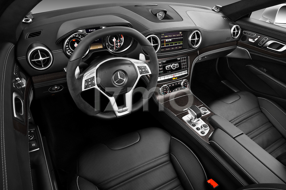 High angle dashboard view of a 2013 Mercedes-Benz SL-Class SL63 AMG Convertible