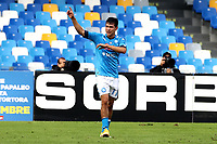 Hirving Lozano of SSC Napoli celebrates after scoring a goal <br /> during the Serie A football match between SSC Napoli and Atalanta BC at San Paolo stadium in Naples (Italy), October 17th 2020. Photo Cesare Purini / Insidefoto