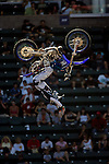 Nate Adams competes in the Moto X Freestyle elimination round during X-Games 12 in Los Angeles, California on August 5, 2006.