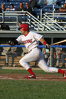 June 27, 2003:  Outfielder Alex Borgo of the Batavia Muckdogs during a game at Dwyer Stadium in Batavia, New York.  Photo by:  Mike Janes/Four Seam Images