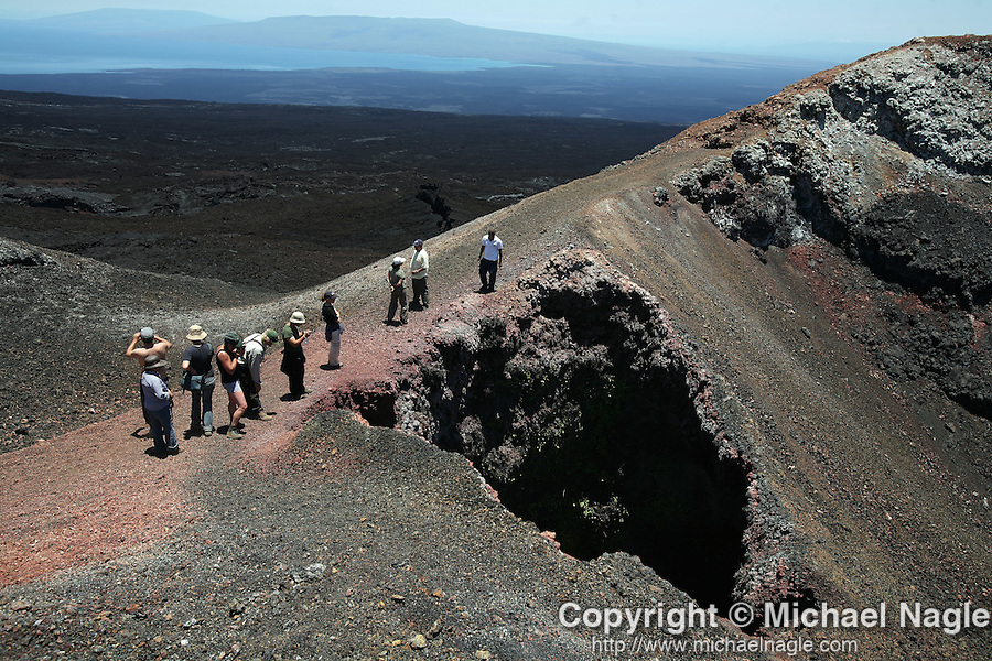 GALAPAGOS - SEPTEMBER 19, 2007: Volcano Chico on Isabella Island in the Galapagos on September 19, 2007 in Ecuador.  (PHOTOGRAPH BY MICHAEL NAGLE)