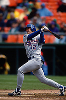 SAN FRANCISCO, CA:  Jeff Kent of the New York Mets bats during a game against the San Francisco Giants at Candlestick Park in San Francisco, California on April 23, 1994. (Photo by Brad Mangin)
